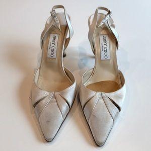 Jimmy Choo White Satin Shoes
